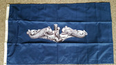 3x5 Silver Dolphin Flag