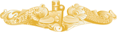 Gold Submarine Dolphin Decal