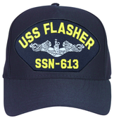 USS Flasher SSN-613 ( Silver Dolphins ) Submarine Enlisted Cap