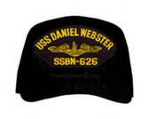 USS Daniel Webster SSBN-626 ( Gold Dolphins ) Submarine Officers Cap
