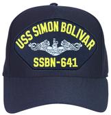 USS Simon Bolivar SSBN-641 ( Silver Dolphins ) Submarine Enlisted Cap