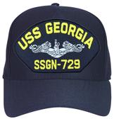 USS Georgia SSBN-729 Navy Blue Ball Cap Hat