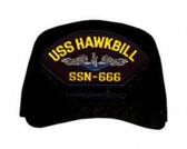 USS Hawkbill SSN-666 Blue Water ( Silver Dolphins ) Submarine Enlisted Cap