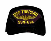USS Trepang SSN-674 ( Gold Dolphins ) Custom Embroidered Submarine Officer Cap