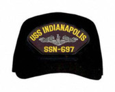 USS Indianapolis SSN-697 ( Silver Dolphins ) Submarine Enlisted Custom Embroidered Cap