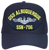 USS Albuquerque SSN-706 ( Silver Dolphins ) Submarine Enlisted Cap