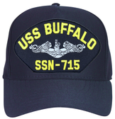 USS Buffalo SSN-715 ( Silver Dolphins ) Submarine Enlisted Custom Embroidered Cap