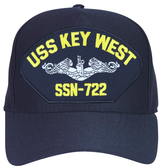 USS Key West SSN-722 ( Silver Dolphins ) Submarine Enlisted Cap