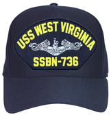 SS West Virginia SSBN-736 ( Silver Dolphins ) Submarine Enlisted Cap