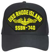 USS Rhode Island SSBN-740 ( Gold Dolphins ) Submarine Officer Cap