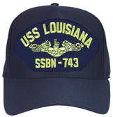 USS Louisiana SSBN-743 ( Gold Dolphins ) Submarine Officers Cap