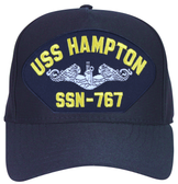 USS Hampton SSN-767 ( Silver Dolphins ) Submarine Enlisted Cap