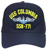 USS Columbia SSN-771 Blue Water ( Silver Dolphins ) Submarine Enlisted Cap