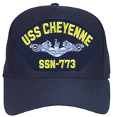 USS Cheyenne SSN-773 ( Silver Dolphins ) Submarine Enlisted Cap