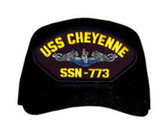 USS Cheyenne SSN-773 Blue Water ( Silver Dolphins ) Submarine Enlisted Cap