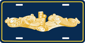 Gold Dolphin Metal License Plate