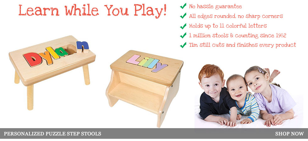 Children's Personalized Name Puzzle Stool