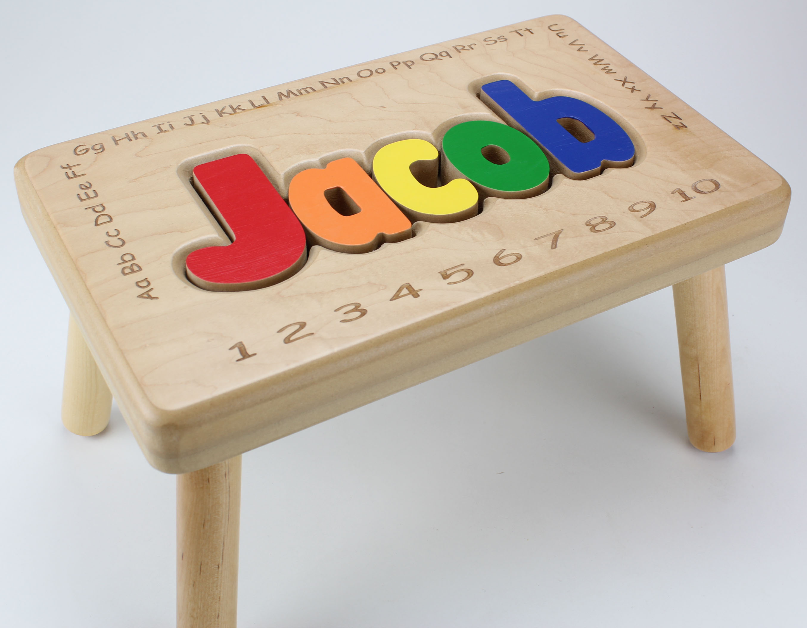 Personalized Child Puzzle Step Stool Unique Interieur