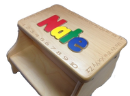 Two Step Stool with Alphabet