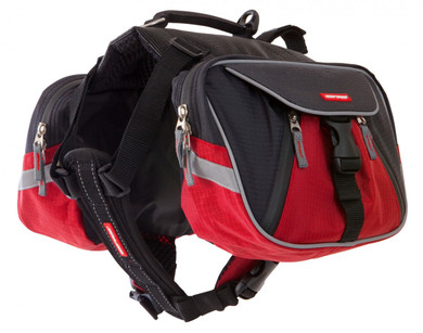 Red and Black EzyDog Summit Dog Backpack