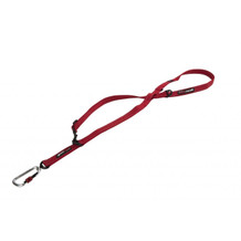 Red - (Shown in 3 Foot Mode) - EzyDog Vario 6 - Multi-Function Leash - Carabineer