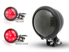 Matt Black LED Stop Taillight for Retro Vintage Project Custom Motorcycle Motorbike