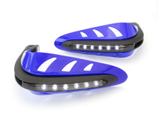 BLUE Motorbike Quad Bike Handguards Protectors LED Daytime Running Lights DRL