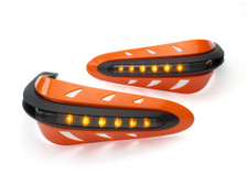 ORANGE Motorbike Quad Bike Handguards Protectors with Indicators Turn Signals
