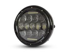"Headlight 7.5"" Projector LED for Cafe Racer Retro Custom Motorbike Motorcycle"