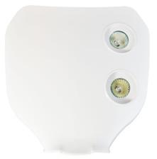 Universal WHITE 12V/20W Double Headlight For All Motocross & Enduro Motorbikes -
