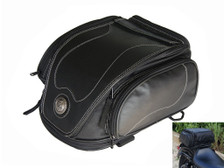 12 Litre Fake Leather Harley Davidson & Cruiser Motorbike Expandable Custom Tail Bag
