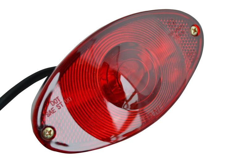 oval black custom stop tail rear light for motorbike monkey bike image 1
