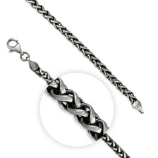 Mens Oxidised 51cm Chain