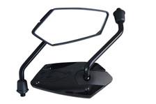 PAIR High Quality Black M10 Wing Mirrors for Yamaha Motorbike Motorcycle Trike