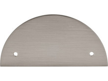 "3 1/2"" Half Circle Back Plate - Brushed Satin Nickel TKTK54BSN (TKTK54BSN)"