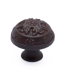Knob Domed Bronze Rust Glaze BE1614-1RBG-P (BE1614-1RBG-P)