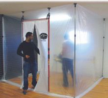 Magnetic Dust Barrier Door System