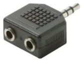 2-3.5mm Jack to 3.5mm Plug Stereo Adapter