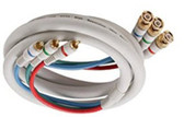 6-Feet 3RCA to 3BNC Component Video Cable, Ivory
