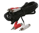 12-Feet 2-RCA to 2-RCA Piggyback Audio Patch Cord