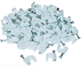 RG6 Cable Clip, 100 Pieces Per Bag, White