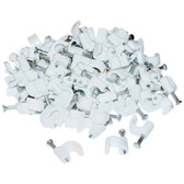 RG6 Cable Clip, White (100 pieces per bag)