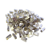 Shielded Cat6 RJ45 STP 8P8C Crimp Connectors for Solid and Stranded Cable, 100 Pieces