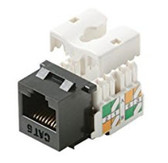 Keystone Cat6 RJ45 90 Degree Jack, Black (CNE440595)