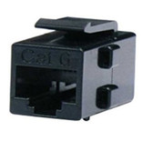 Keystone Cat6 RJ45 Coupler, Black (CNE439698)
