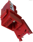CAT6 Keystone Jack - Red (CNE75778)