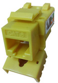 CAT6 Keystone Jack - Yellow (CNE75792)