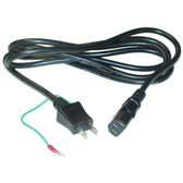6-Feet Japanese Computer/Monitor Power Cord, JIS C 8303 with Ground Wire to C13, PSE Approved