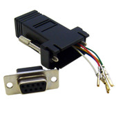 Modular Adapter, Black, DB9 Female to RJ12 Jack