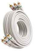 12-Feet 3-RCA Component Video Cable, Ivory
